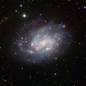 Composicvión de imágenes de la galaxia NGC 300 por ESO
